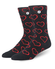 2 Pack heart Socks Gift Box