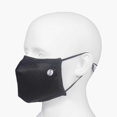 PLAIN BLACK REUSABLE FACEMASK - SwankySocks