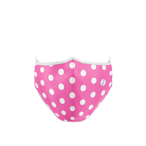 PINK POLKA DOT REUSABLE FACEMASK