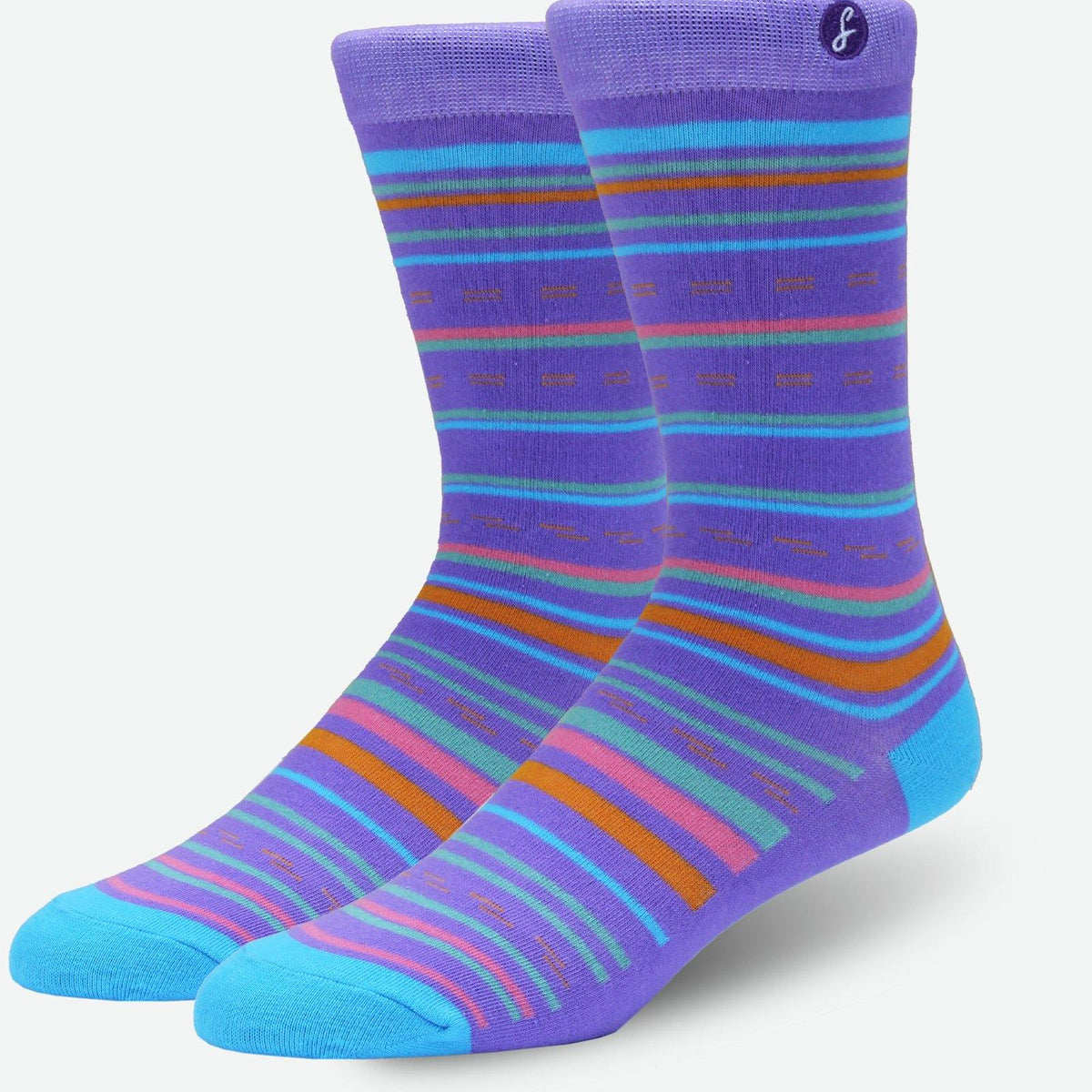 Service Now Purple Stripes Swanky Socks - SwankySocks