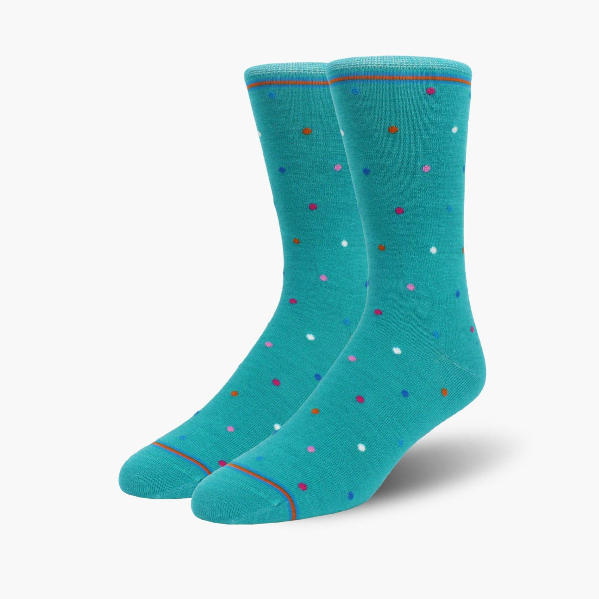 Teal Coloured mixed Polka Dot Merino Wool Dress Swanky Socks