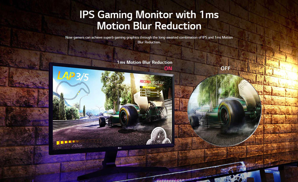 """lg 24mp59g-p 24"""" ips gaming monitor 1ms mbr 75hz"""
