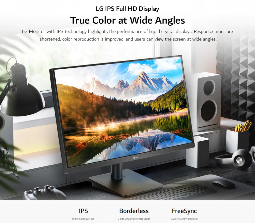 LG IPS Full HD Display True Color at Wide Angles