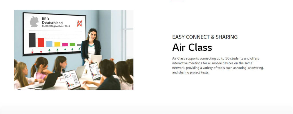 LG 86TR3BF-B Easy Connect & Sharing Air Class