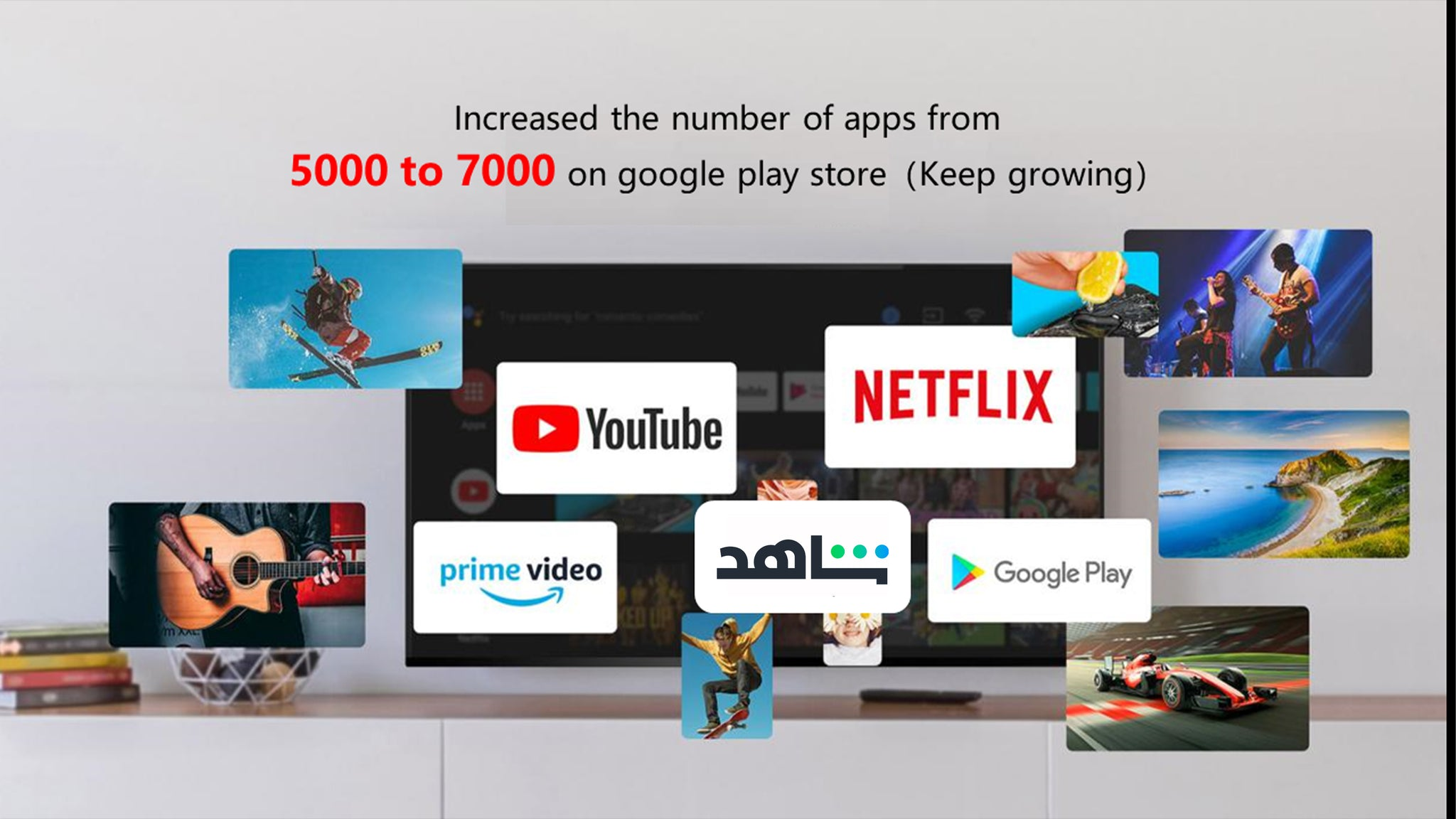 Increased the number of apps from  5000 to 7000 on google play store(Keep growing)