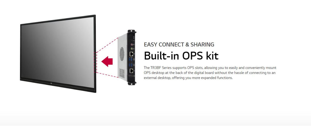 LG 86TR3BF-B Built-in OPS kit