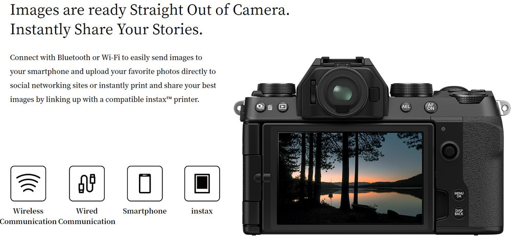 fujifilm x-s10 options