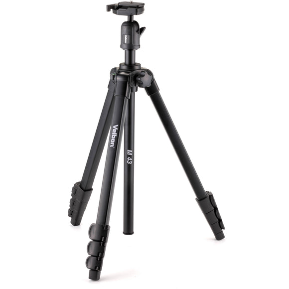 Velbon M43 4-Section Aluminum Tripod with Ball Head-GrandStores Saudi Arabia