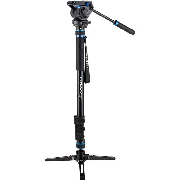 Benro MCT38AF Monopod with Flip Locks, 3-Leg Base, and S4 Video Head-GrandStores Saudi Arabia