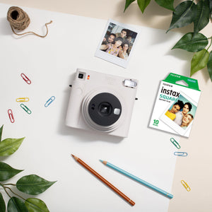 Fujifilm instax sq1 instant film camera (Chalk White) + Film (10 sheets)-GrandStores Saudi Arabia