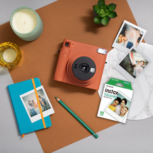 Fujifilm instax sq1 instant film camera (Terracotta Orange) + Film (10 sheets)-GrandStores Saudi Arabia