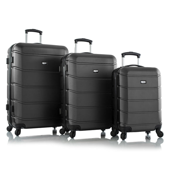 Heys, ArmourLite, Hard Trolly 3 pcs set (Black)-GrandStores Saudi Arabia