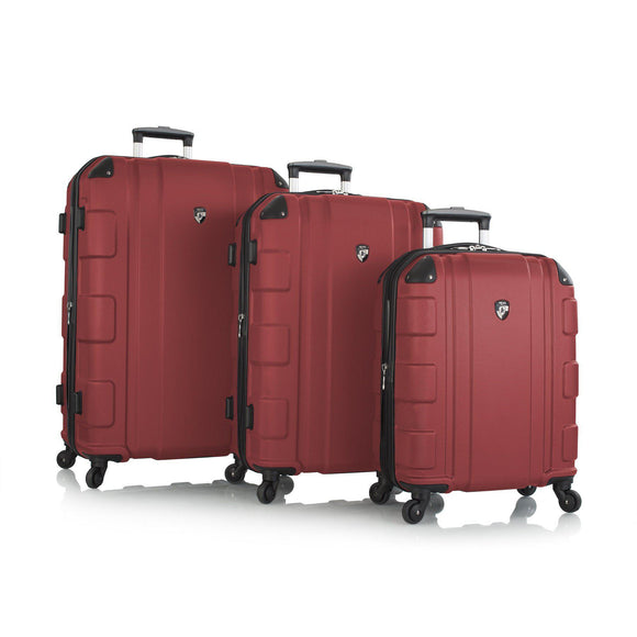 Heys, Azor, Hard Trolly 3 pcs set (Red)-GrandStores Saudi Arabia