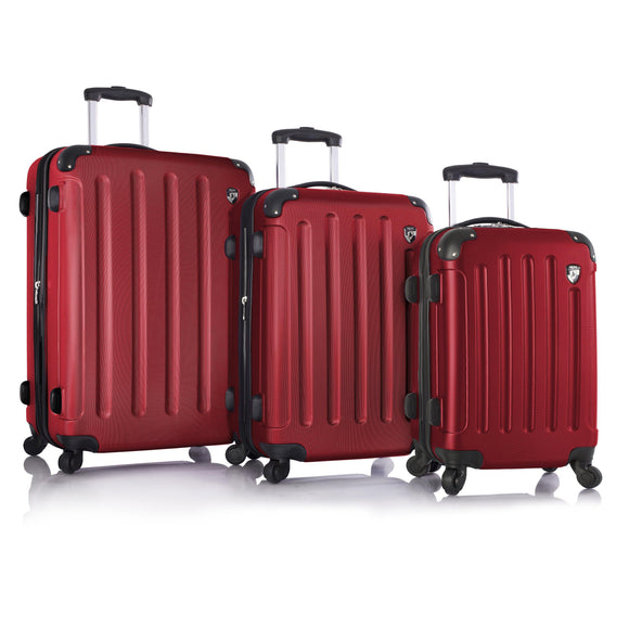 Heys, Revolver, Hard Trolly 3 pcs set (Red)-GrandStores Saudi Arabia