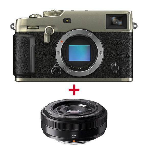 FUJIFILM X-Pro3 Mirrorless Digital Camera (Body Only, Dura Silver)/XF27mm F2.8-GrandStores Saudi Arabia
