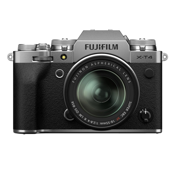 FUJIFILM Mirrorless Camera X-T4/XF18-55mm Kit (Silver)-GrandStores Saudi Arabia