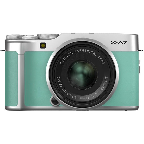 FUJIFILM X-A7 Mirrorless Digital Camera/15-45mm Lens Kit (Mint Green)-GrandStores Saudi Arabia