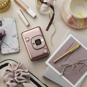 FUJIFILM instax mini LiPlay hybrid Instant Film Camera (Blush Gold)-GrandStores Saudi Arabia