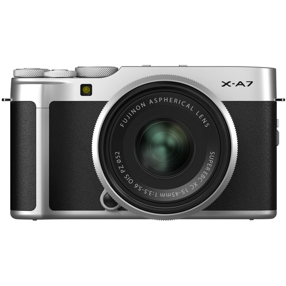 FUJIFILM X-A7 Mirrorless Digital Camera/15-45mm Lens Kit (Silver)-GrandStores Saudi Arabia
