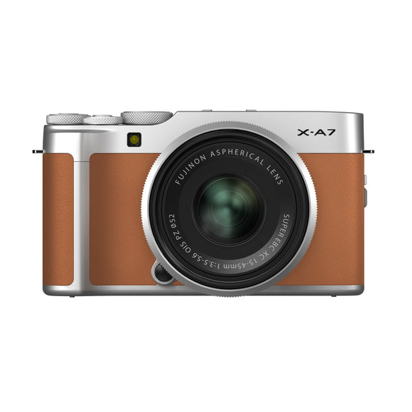 FUJIFILM X-A7 Mirrorless Digital Camera/15-45mm Lens Kit (Camel)-GrandStores Saudi Arabia