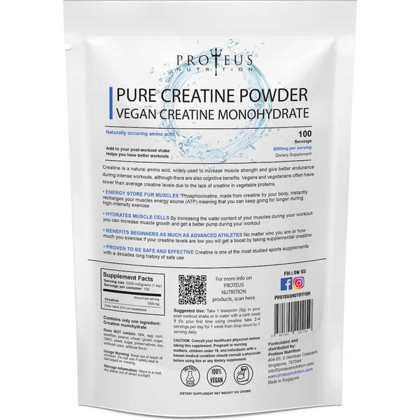Proteus Nutrition 100% Pure Creatine Monohydrate Powder