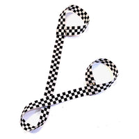 Black & White Checkered Flag Adjustable Roller Skate Leash