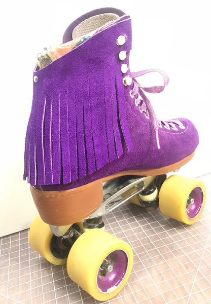 Purple Suede Fringe Kit for Roller Skates *ONLY COMPATIBLE with SPECIFIC Brands/Sizes in the dropdown menu*