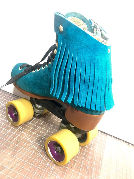Pool Blue Suede Fringe Kit for Roller Skates *ONLY COMPATIBLE with SPECIFIC Brands/Sizes in the dropdown menu*