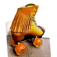Orange Suede Fringe Kit for Roller Skates *ONLY COMPATIBLE with SPECIFIC Brands/Sizes in the dropdown menu*