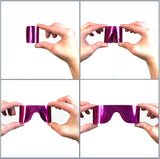 Roll-Up Sunglasses, Hot Pink Mirror Reflective