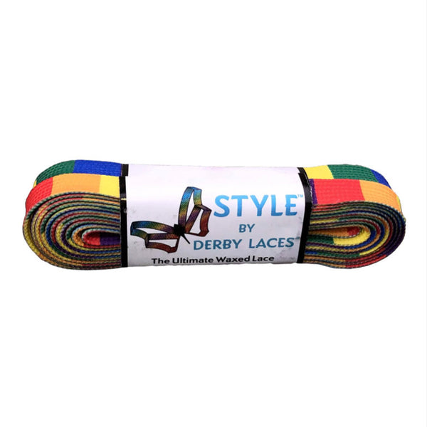 Rainbow Block Skate Laces