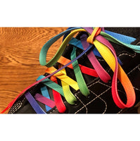 Rainbow Gradient Skate Laces, Pair