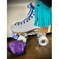 Jade Suede Fringe for Roller Skates, Pair *ONLY COMPATIBLE with SPECIFIC Brands/Sizes in the dropdown menu*