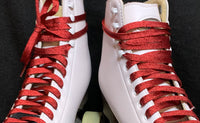 Red SPARK Metallic Roller Skate Laces