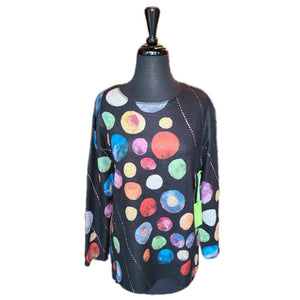 Trisha Tyler Multi Colored Dot Top