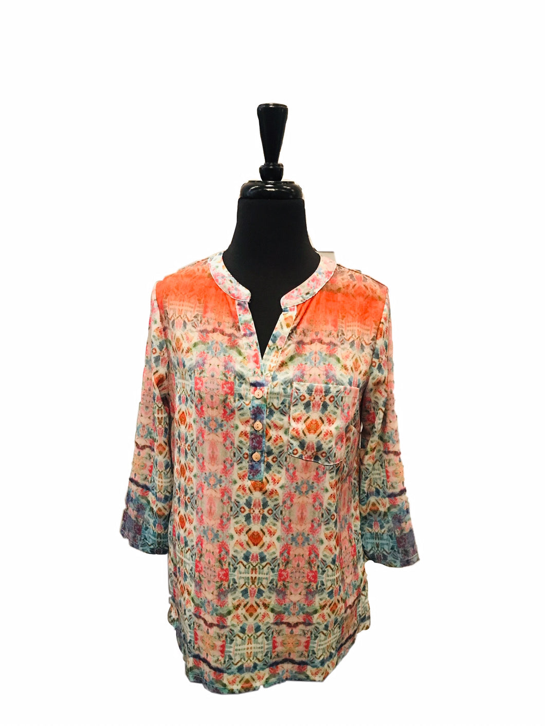 Charlie B Crinkle Georgette Pop Over Shirt