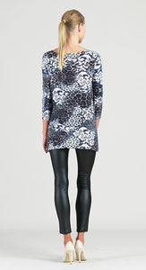 Clara Sun Woo Lace Print Classic Brushed Knit Tunic