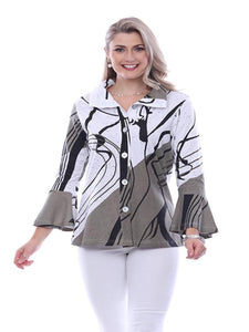 Plus Size Parsley & Sage Black and White Jacket