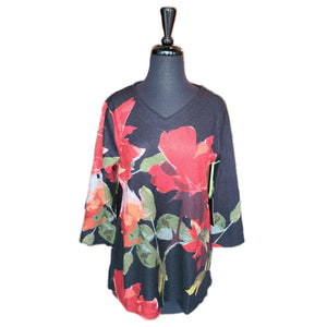 Trisha Tyler Floral V Neck Top
