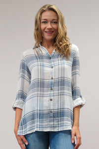 KYC0442 5/2 C20 CAITE PLAID SHIRT