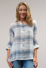 Load image into Gallery viewer, KYC0442 5/2 C20 CAITE PLAID SHIRT