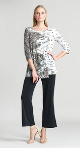 Clara Sun Woo Geo Animal Print Twist Front Tunic