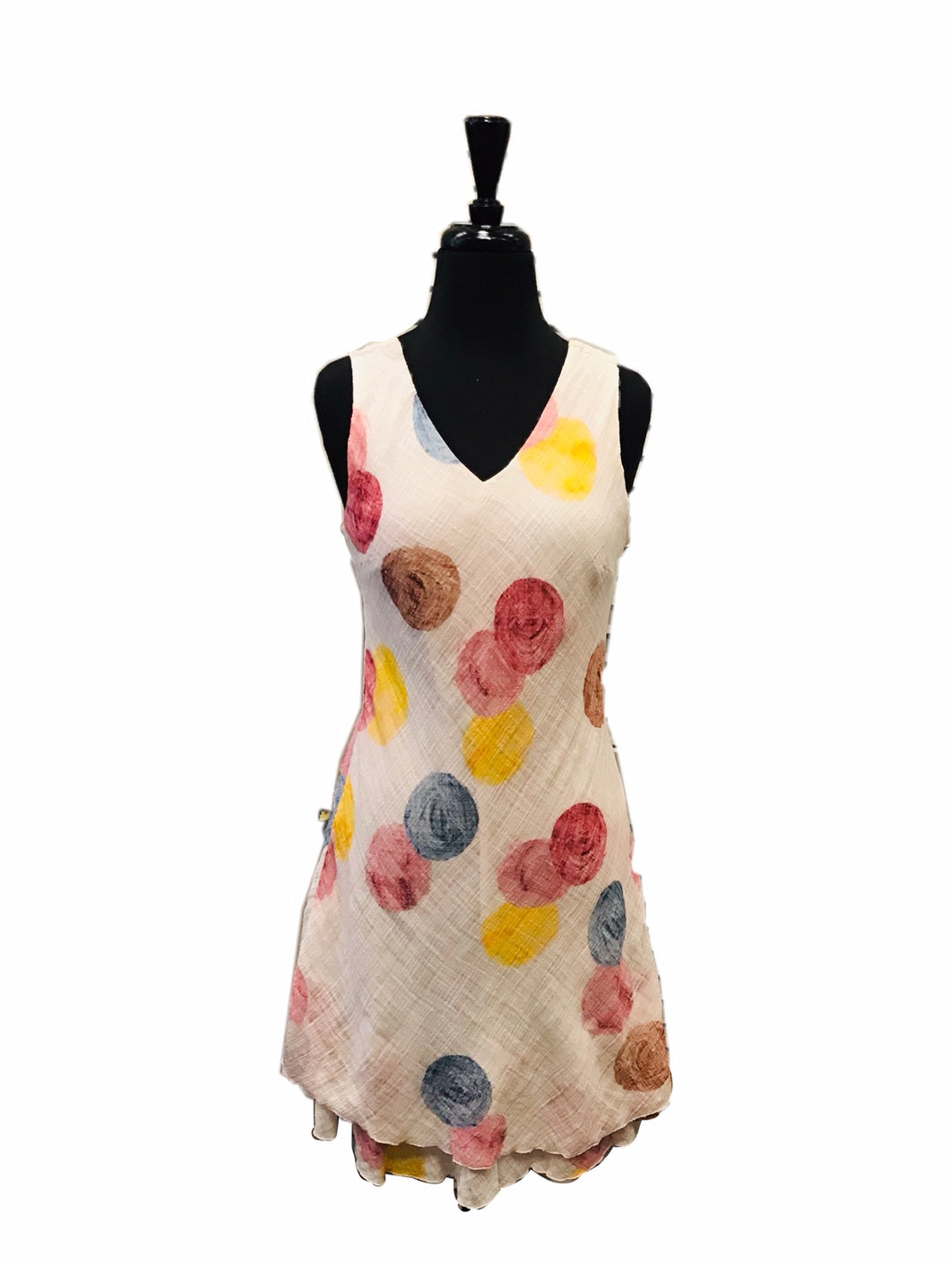 Charlie B Cotton Printed Dot Gauze Dress