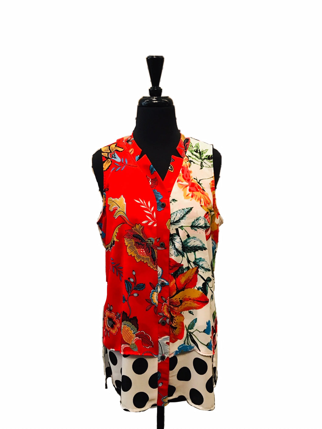 Michael Tyler Floral Sleeveless Blouse
