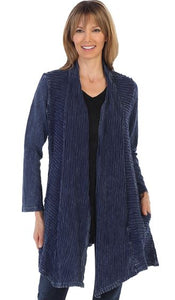 Jess & Jane Plus Wave Knit Cardigan