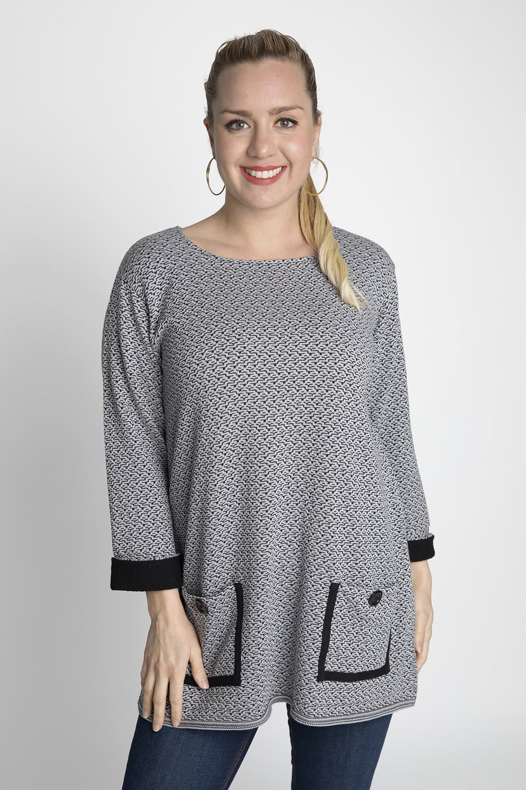 Margaret Winters Tweed Tunic With Pockets