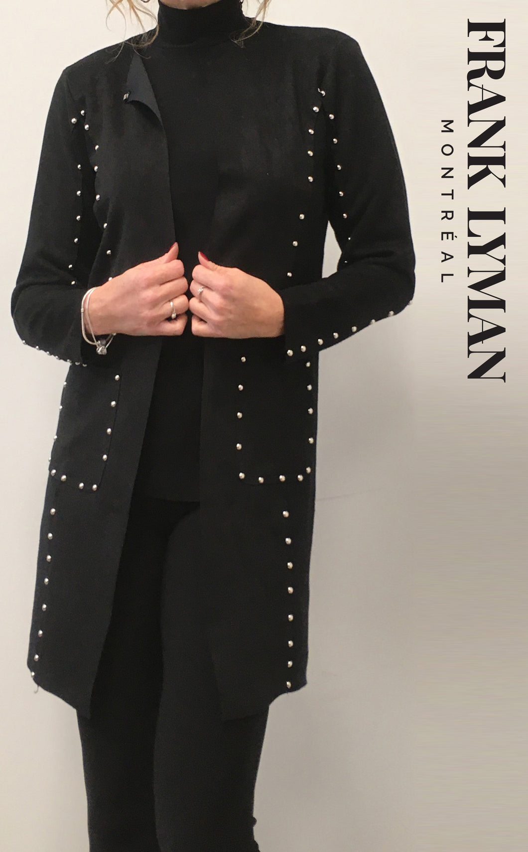 Frank Lyman Knit Studded Duster