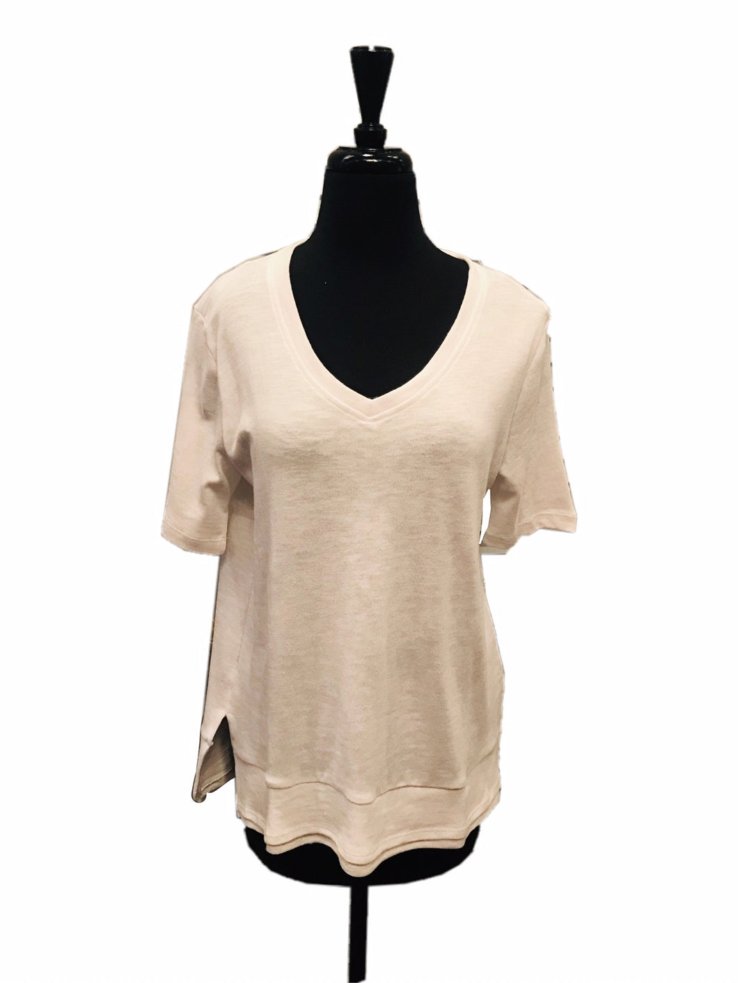 Charlie B Short Sleeve V Neck Top