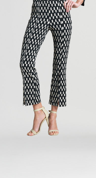 Clara Sun Woo Geo Rectangle Print Ankle Pant