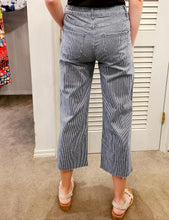 Load image into Gallery viewer, Charlie B Striped Cropped Wide Leg Jean